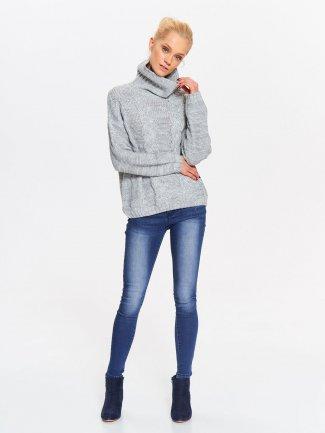 sweter damski szary długi rękaw